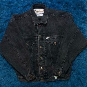 Vintage Guess Jeans Black Jean Jacket